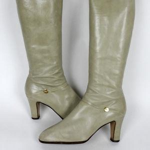 Salvato0re Ferragamo Vintage Tall Boots 8.5 Narrow